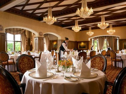 Ireland Castle Vacations - George V Dining Room at Ashford Castle