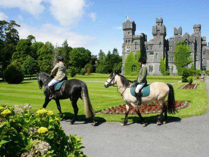 Ireland Castle Tour 2017 - Ashford Castle Horse Riding