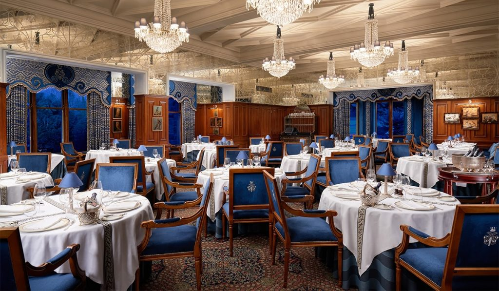 Honeymoons in Ireland, Ashford George V dining room